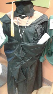 Husson's cap and gown.