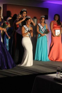 Brittany Bearden being coronated.