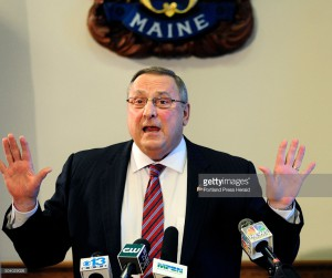AUGUSTA, ME - JANUARY 8: Gov. Paul LePage speaks during a news conference on Friday Jan. 8, 2016 in the State House cabinet room. (Photo by Joe Phelan/Staff Photographer)